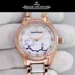 JAEGER-049-01 時尚款進口自動機械機芯藍寶石玻璃鏡面女士陶瓷腕表