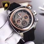 Lamborghini-010-03 兰博基尼進口日本原裝計時碼表礦物質鑫鋼化玻璃男士腕表