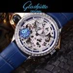 格拉蘇蒂-01-05 時尚新款全自動機械雕花機芯藍寶石抗磨鏡面男士腕表