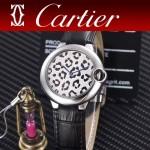 CARTIER-308-012 卡地亞絢麗多彩叢林進口石英豹紋表盤腕表