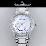 JAEGER-049-02 時尚款進口自動機械機芯藍寶石玻璃鏡面女士陶瓷腕表