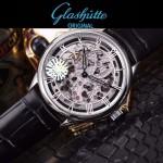 格拉蘇蒂-01-01 時尚新款全自動機械雕花機芯藍寶石抗磨鏡面男士腕表