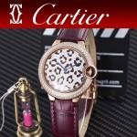 CARTIER-308-01 卡地亞絢麗多彩叢林進口石英豹紋表盤腕表