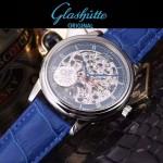 格拉蘇蒂-01-012 時尚新款全自動機械雕花機芯藍寶石抗磨鏡面男士腕表