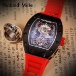 Richard Mille-81-010 理查德米勒原裝進口8215機械 防水膠帶配原裝折疊扣男士腕表