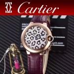 CARTIER-308-05 卡地亞絢麗多彩叢林進口石英豹紋表盤腕表