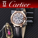 CARTIER-308-06 卡地亞絢麗多彩叢林進口石英豹紋表盤腕表