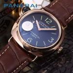PN1204-03 沛納海雕花自動機械機芯礦物強化玻璃男士腕表