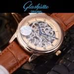 格拉蘇蒂-01-09 時尚新款全自動機械雕花機芯藍寶石抗磨鏡面男士腕表