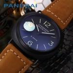 PN1204-09 沛納海雕花自動機械機芯礦物強化玻璃男士腕表