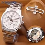 Longines-0100-02 浪琴康柏系列瑞士7750自動機芯雙面藍寶石玻璃男士腕表