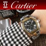 CARTIER-306 時尚款進口VK石英機芯拱形藍光玻璃車頭燈系列男士腕表