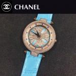 CHANEL-0200-014 時尚新款時來運轉系列瑞士朗達石英機芯女士腕表