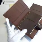 LV M20005 老花經典熱賣款原版皮小號活頁記事本