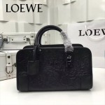LOEWE 029-01 專櫃時尚新款頂級進口原版皮牛皮配羊皮內裡賓利壓花圖騰款手提包