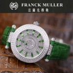 Franck Muller-28 高貴奢華Double Mystery綠色滿天星瑞士2836自動機械腕錶
