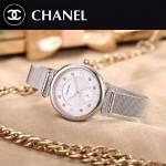 CHANEL-05-3 時尚百搭閃亮銀鑲鑽316精鋼錶殼鋼帶款進口石英腕錶