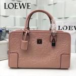 LOEWE 029-06 專櫃時尚新款頂級進口原版皮牛皮配羊皮內裡賓利壓花圖騰款手提包