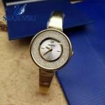 Swarovski-01 高貴典雅土豪金表圈鑲有1700顆施華洛世奇水晶手鐲款腕錶