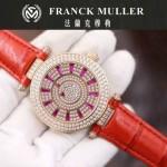 Franck Muller-28-5 高貴奢華Double Mystery土豪金紅色滿天星瑞士2836自動機械腕錶