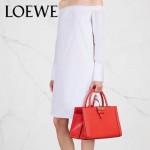LOEWE 015-01 專櫃時尚新款頂級進口原版Napa牛皮Barcelona系列限量版大三角包