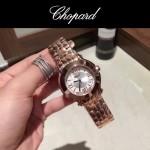 Chopard-040-4 潮流百搭玫瑰金經典圓形錶盤滾珠設計瑞士石英腕錶