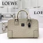 LOEWE 029-05 專櫃時尚新款頂級進口原版皮牛皮配羊皮內裡賓利壓花圖騰款手提包