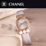 CHANEL-06-6 歐美百搭土豪金配銀色礦物質強化玻璃錶帶款進口石英腕錶