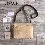 LOEWE 026 專櫃時尚新款進口原版小牛皮斜跨小包