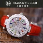 Franck Muller-28-10 高貴奢華Double Mystery閃亮銀紅色滿天星瑞士2836自動機械腕錶