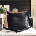LOEWE 023-04 時尚走秀款Strip bag系列原版小牛皮手提斜挎包