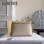 LOEWE 025-01 專櫃時尚新款T-pouch系列原版小牛皮紡織內襯個性手包