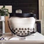 LOEWE 023-01 時尚走秀款Strip bag系列原版小牛皮手提斜挎包