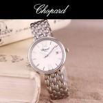 Chopard-039-11 潮流新款閃亮銀配白色礦物質強化玻璃進口石英腕錶