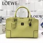 LOEWE 029-07 專櫃時尚新款頂級進口原版皮牛皮配羊皮內裡賓利壓花圖騰款手提包