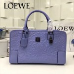 LOEWE 029-03 專櫃時尚新款頂級進口原版皮牛皮配羊皮內裡賓利壓花圖騰款手提包