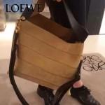 LOEWE 023 時尚走秀款Strip bag系列原版小牛皮手提斜挎包