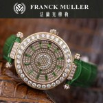 Franck Muller-28-8 高貴奢華Double Mystery土豪金綠色滿天星瑞士2836自動機械腕錶