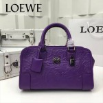 LOEWE 029-02 專櫃時尚新款頂級進口原版皮牛皮配羊皮內裡賓利壓花圖騰款手提包