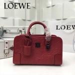 LOEWE 029 專櫃時尚新款頂級進口原版皮牛皮配羊皮內裡賓利壓花圖騰款手提包
