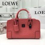 LOEWE 029-04 專櫃時尚新款頂級進口原版皮牛皮配羊皮內裡賓利壓花圖騰款手提包