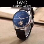 IWC-081 商務男士閃亮銀配黑底鏤空飛輪設計全自動機械腕錶