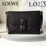 LOEWE 027-03 潮流時尚新款Flamenco系列進口原版小牛皮單肩斜挎包
