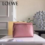 LOEWE 025-02 專櫃時尚新款T-pouch系列原版小牛皮紡織內襯個性手包