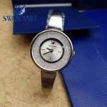 Swarovski-01-3 高貴典雅閃亮銀表圈鑲有1700顆施華洛世奇水晶手鐲款腕錶