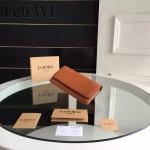 LOEWE 014-04 專櫃時尚新款進口原版皮牛皮裏外全皮翻蓋式錢包
