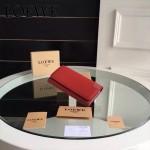 LOEWE 014 專櫃時尚新款進口原版皮牛皮裏外全皮翻蓋式錢包