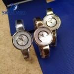 Swarovski-02 高貴典雅玫瑰金表圈鑲有1700顆施華洛世奇水晶手鐲款腕錶