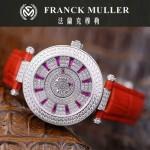 Franck Muller-28-3 高貴奢華Double Mystery紅色滿天星瑞士2836自動機械腕錶