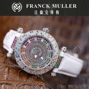 Franck Muller-28-11 高貴奢華Double Mystery閃亮銀白色滿天星瑞士2836自動機械腕錶